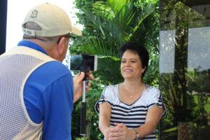 CIUDAD QUESADA. Una cantante que quiere propagar el optimismo de su pueblo.